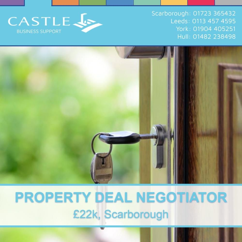 NEW JOB: Property Deal Negotiator https://t.co/D9re0HBOlq Castle Business Support are currently recruiting for a Property Deal Negotiator to join a well established property management firm in the Scarborough area.  #property #deal #negotiator https://t.co/EIURL5CGaR