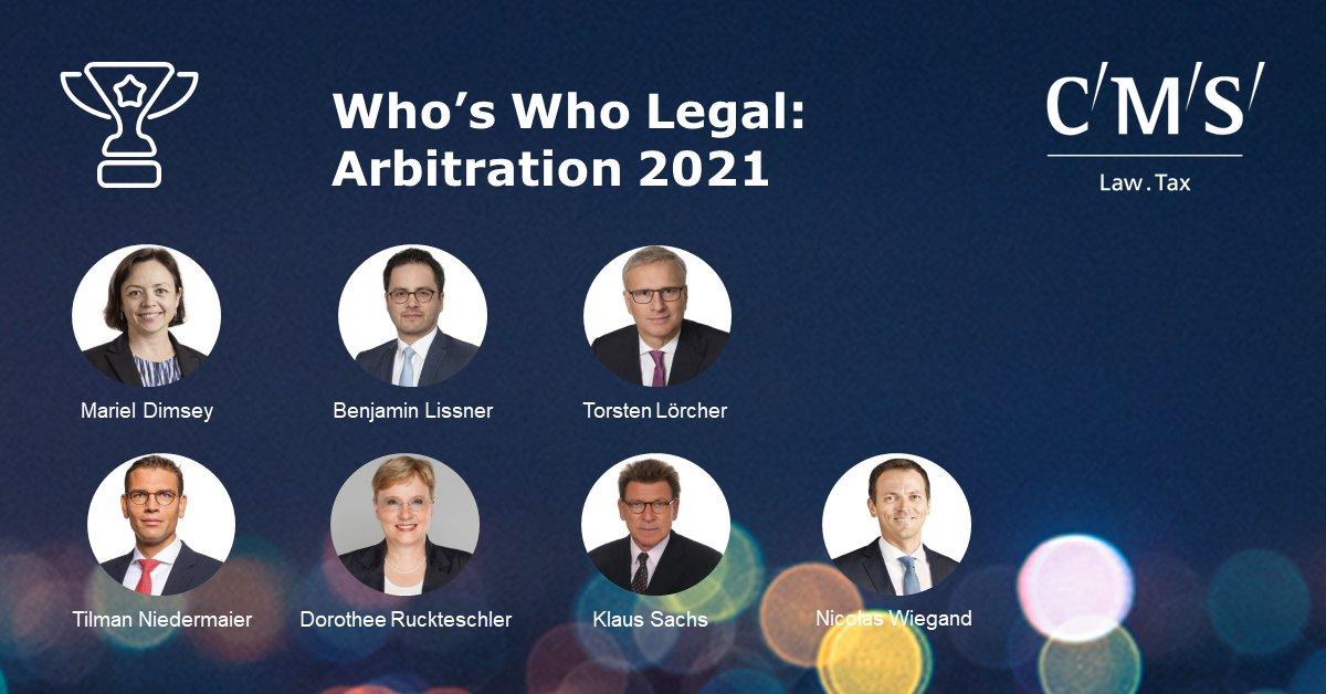 test Twitter Media - Wir gratulieren unseren Partnerinnen und Partnern, die im diesjährigen @whoswholegal: Arbitration 2021 gerankt sind. #Arbitration #WhosWhoLegal https://t.co/wGiJ1PmImc