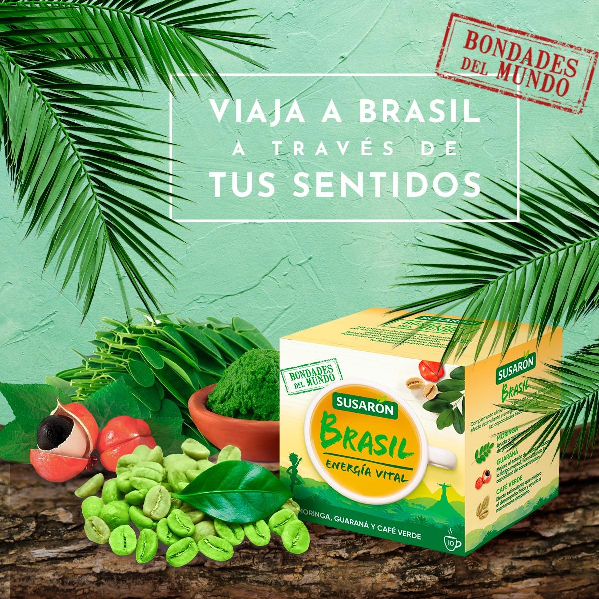 Siente la magia de #Brasil y su cultura a través de nuestro nuevo té. 🌎 Su sabor hará que viajes directamente a Brasil, además de aportarte la #energía vital que necesitas para mantenerte activo durante todo el día. 😊 https://t.co/oMnKjOqMku