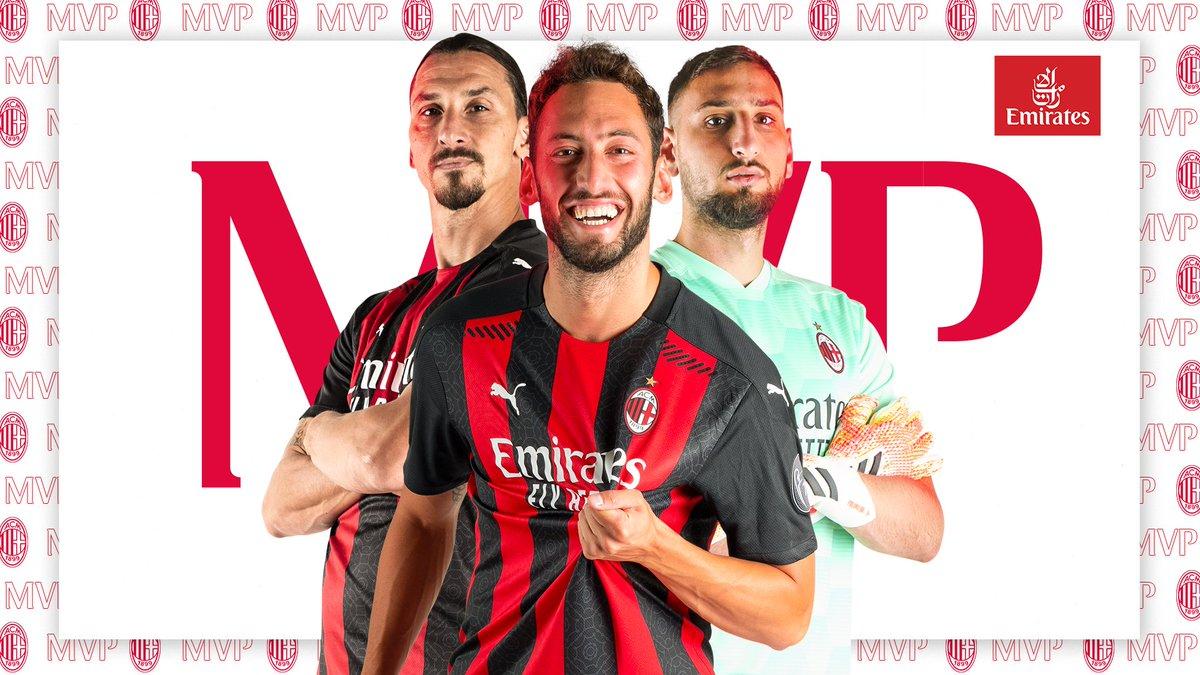 Congratulations, @hakanc10! You're our first @Emirates MVP of the season 🥇   Congratulazioni a Hakan Çalhanoğlu, il nostro primo #MVP della stagione 🥇   #RoversMilan #SempreMilan https://t.co/BIxdfyCvJT