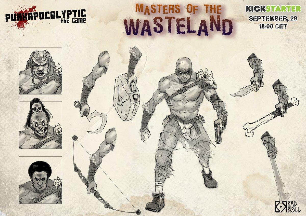 [ESP] Masters of the Wasteland Kickstarter. El 29 de septiembre a las 18:00 horas. Miniaturas con múltiples cabezas y armas para poder ser usadas en diferentes facciones. ¡Móntalas a tu gusto, combina las piezas entre ellas! Libro de reglas extra y de campaña.  #PunkaKS https://t.co/MtcZcih0Ri