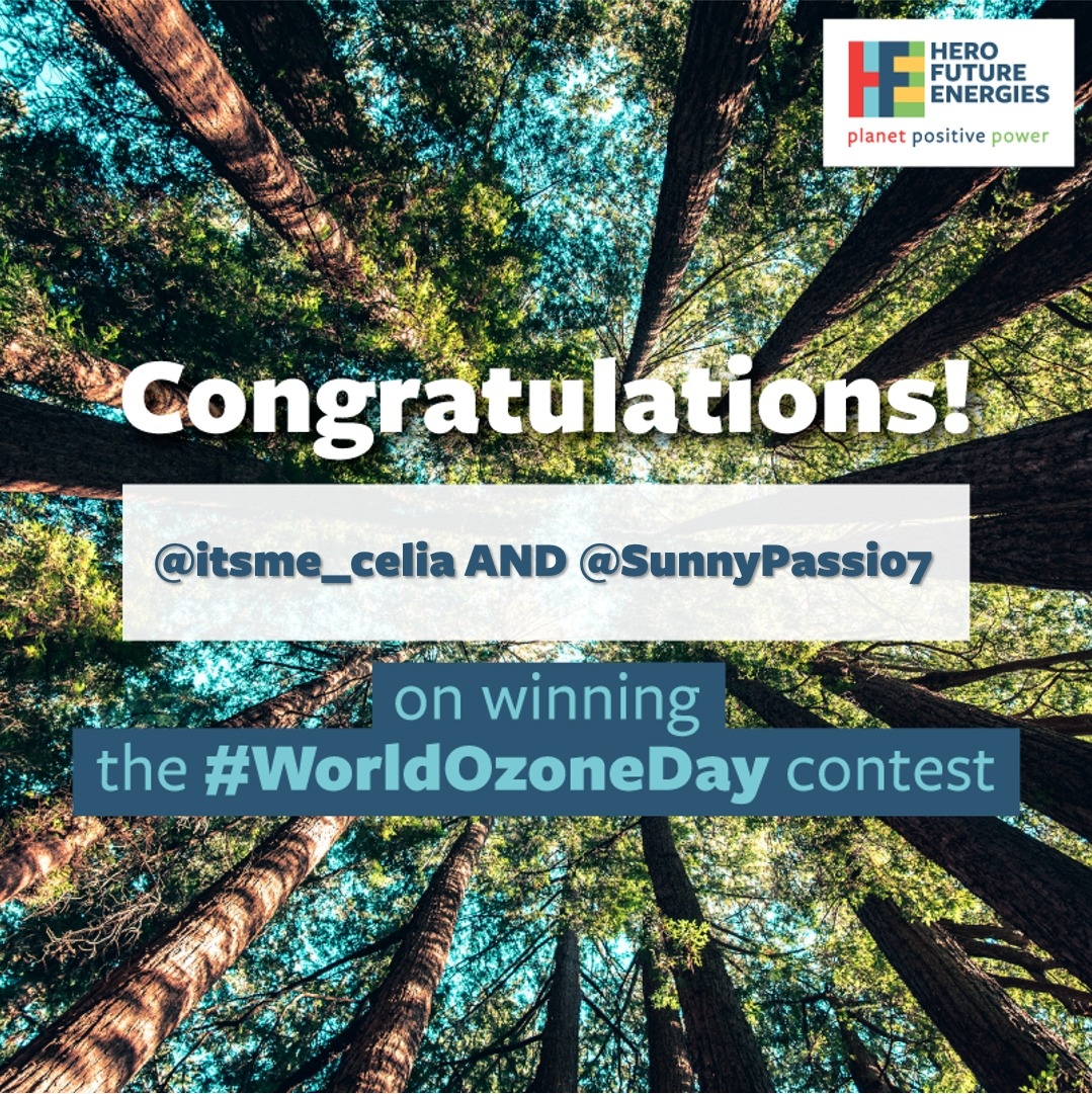 Congratulations to our #WorldOzoneDay contest winners, @itsme_celia and @SunnyPassi07. We hope you do your bit to educate people around you about the threat of #ozonedepletion. Kindly DM us your details to receive your gift. https://t.co/d5q4P01hrS