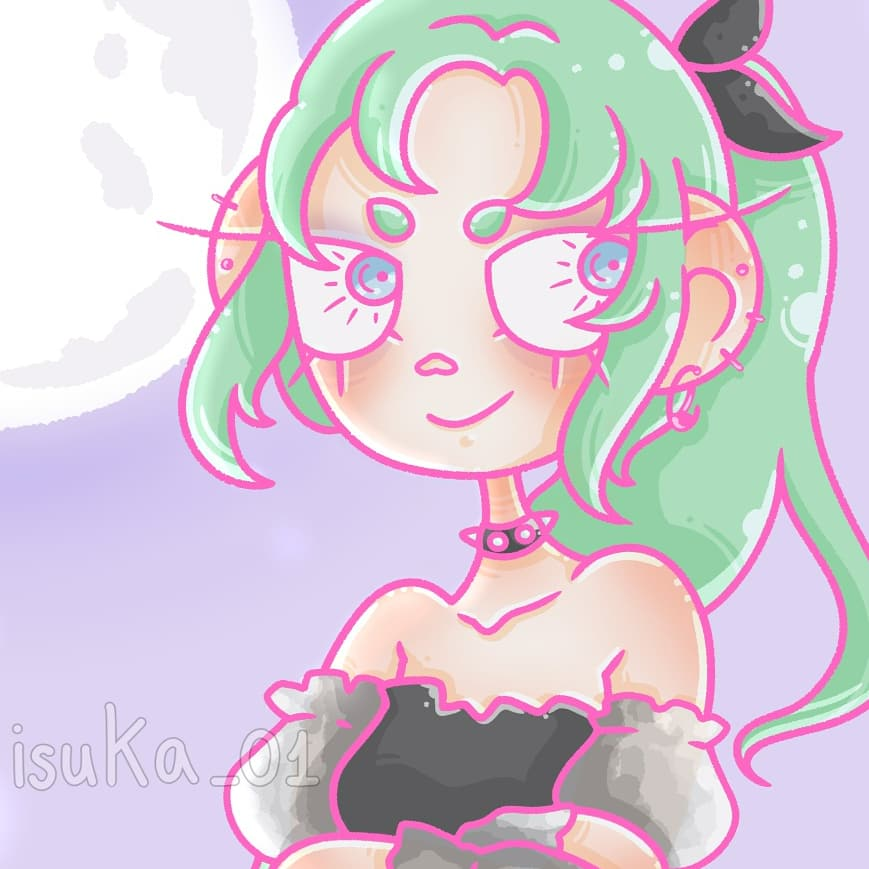 "I forgot to post it here 🤧 Mion Sonozaki from ""Higurashi no naku koro ni"" with the famous goth dress 💞 I tried to do a more complex background btw 😌  #illustration #digitalart #pastelcolours #cutechibi #yamikawaii https://t.co/bssFewGj8I"