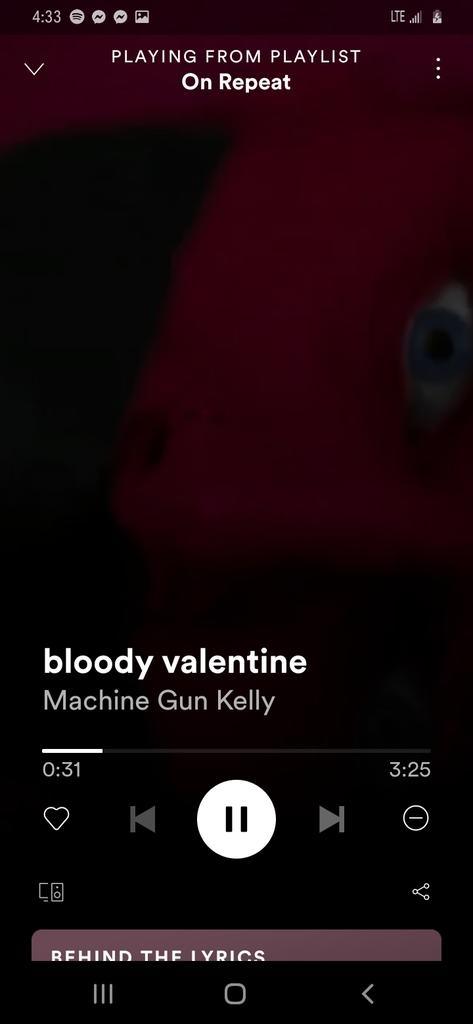 Best song ever ❤❤ just saying. #bloodyvalentine https://t.co/2XKz1SqWHi