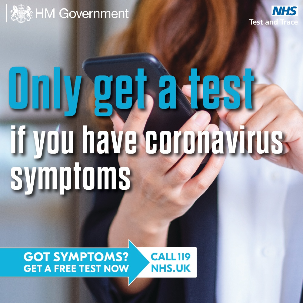 There is now very high demand for coronavirus tests and it is vital that we test people with symptoms to help stop the spread of the virus.  ✅ If you have Covid symptoms, you must get a test.  ❌ If you don't have symptoms, don't get a test.  Play your part. https://t.co/MuWDdpkxSt