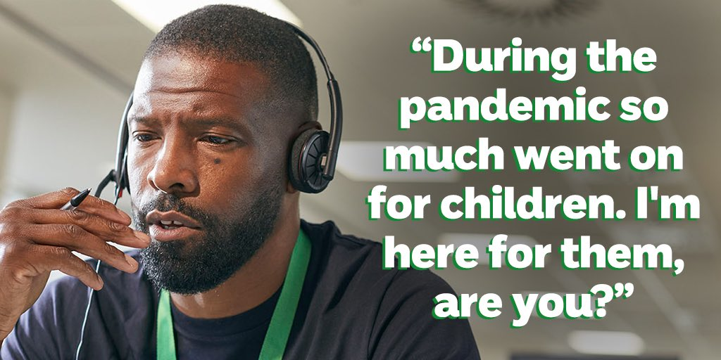 Childline counsellors like Omar are hearing first-hand how the pandemic is affecting children's mental health.   With you by our side, we can still be here for every child. Will you stand with us? https://t.co/mKVRuu2fWC https://t.co/u4Nme0ouCP