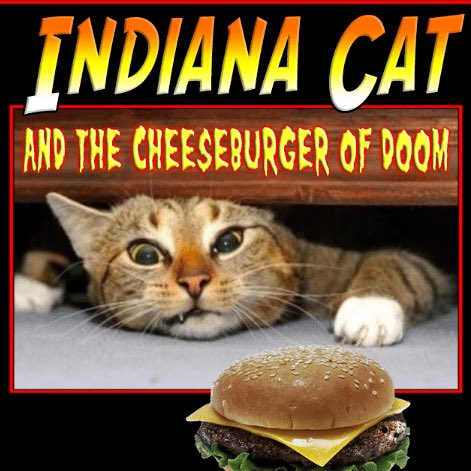 When cats steal a piece of your delicious cheeseburger, we're not misbehaving—we're just acting out one of our favorite adventure movies... #NationalCheeseburgerDay https://t.co/kHb5jLTBgy