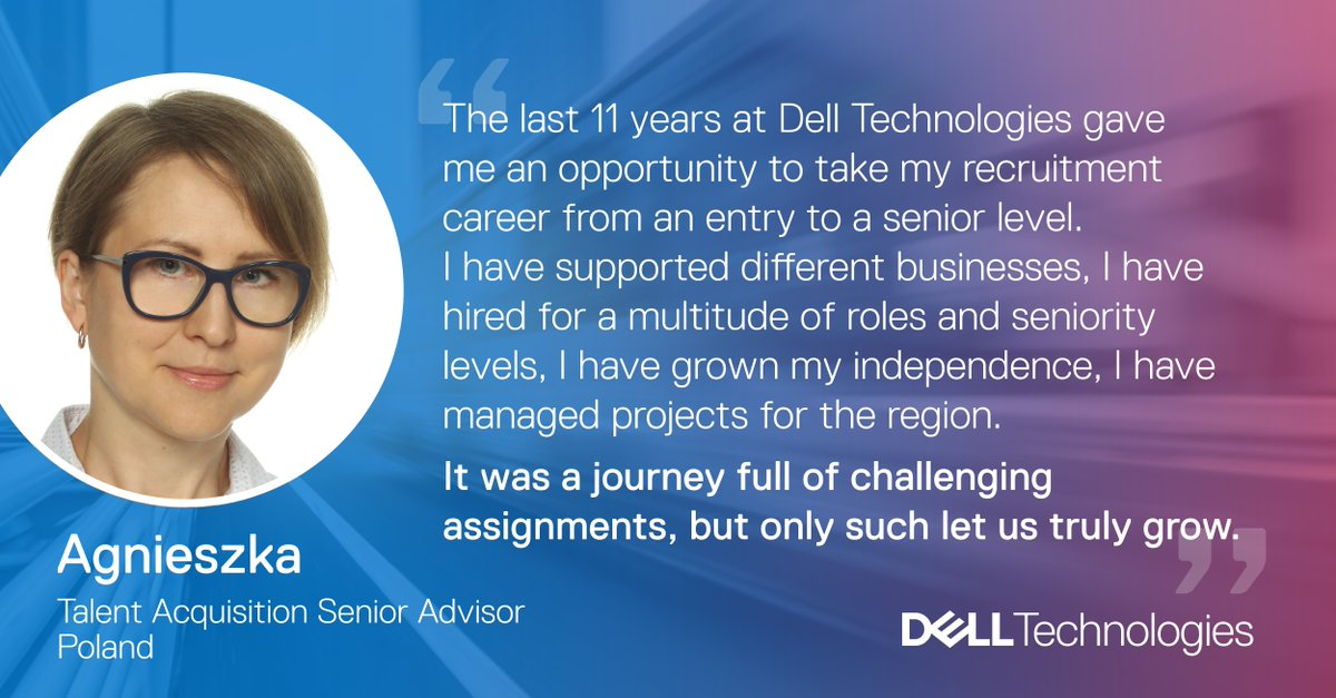What's the next step of your career? @DellTech we encourage you to think about your development every step of the way and own it in the way you like it. Read more from Agnieszka and visit https://t.co/cb2bXsfTfh to find out how you can grow with us. https://t.co/FO14Zftup7