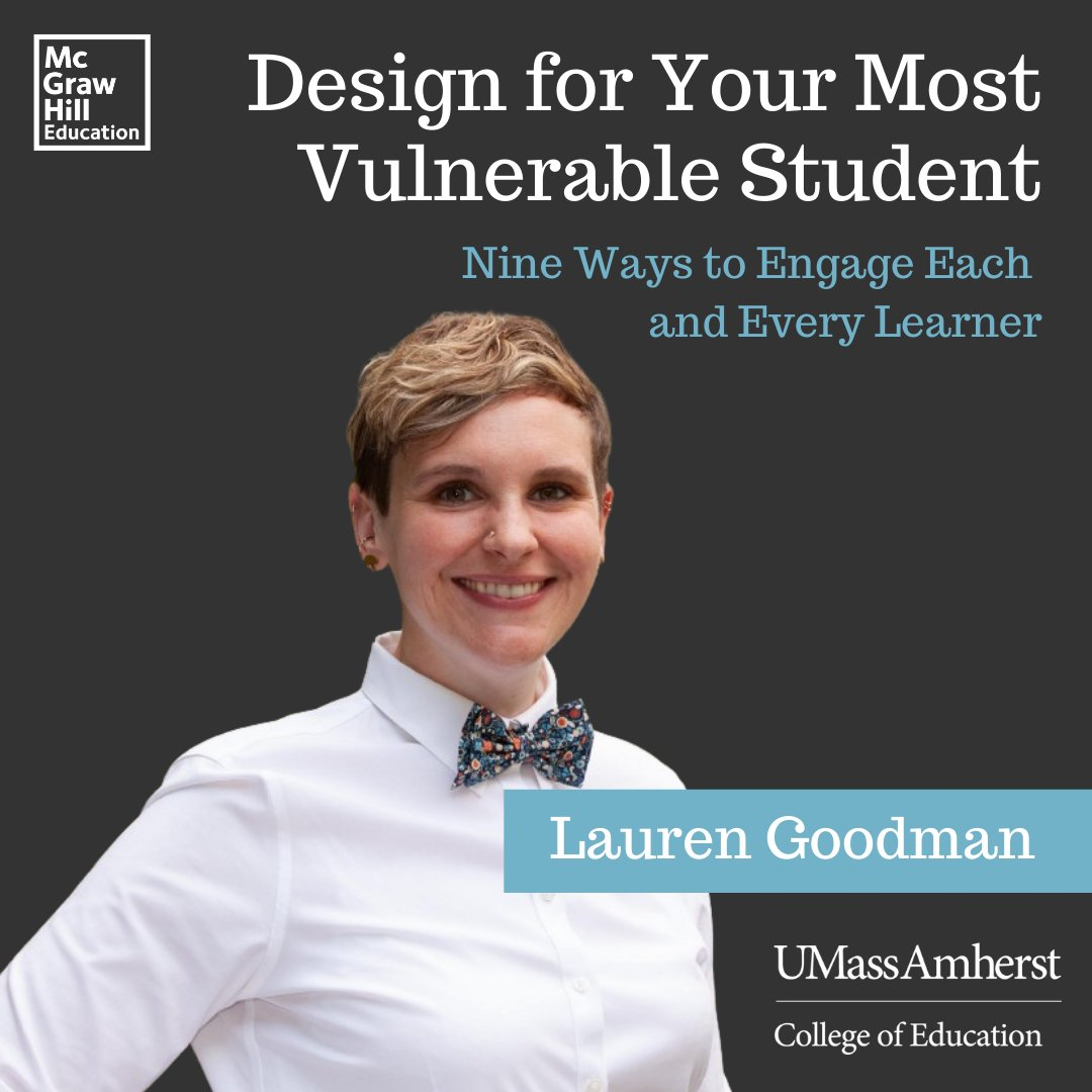 """Doctoral student in Math, Science, & Learning Technologies Lauren Goodman published the article """"Design for Your Most Vulnerable Student: Nine Ways to Engage Each and Every Learner"""" in @McGrawHillK12's Inspired Ideas Medium publication. Great job, Lauren! https://t.co/3xIBbzmsnF https://t.co/AjkJk9v2By"""