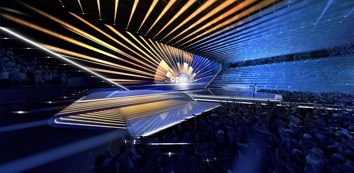 And finally...the minimalist & modern stage design inspired by the Dutch landscape will be used at the Rotterdam Ahoy for #ESC2021!   👉 https://t.co/5nd2GwDehY  #Eurovision | #OpenUp https://t.co/NXUfR7SjJQ