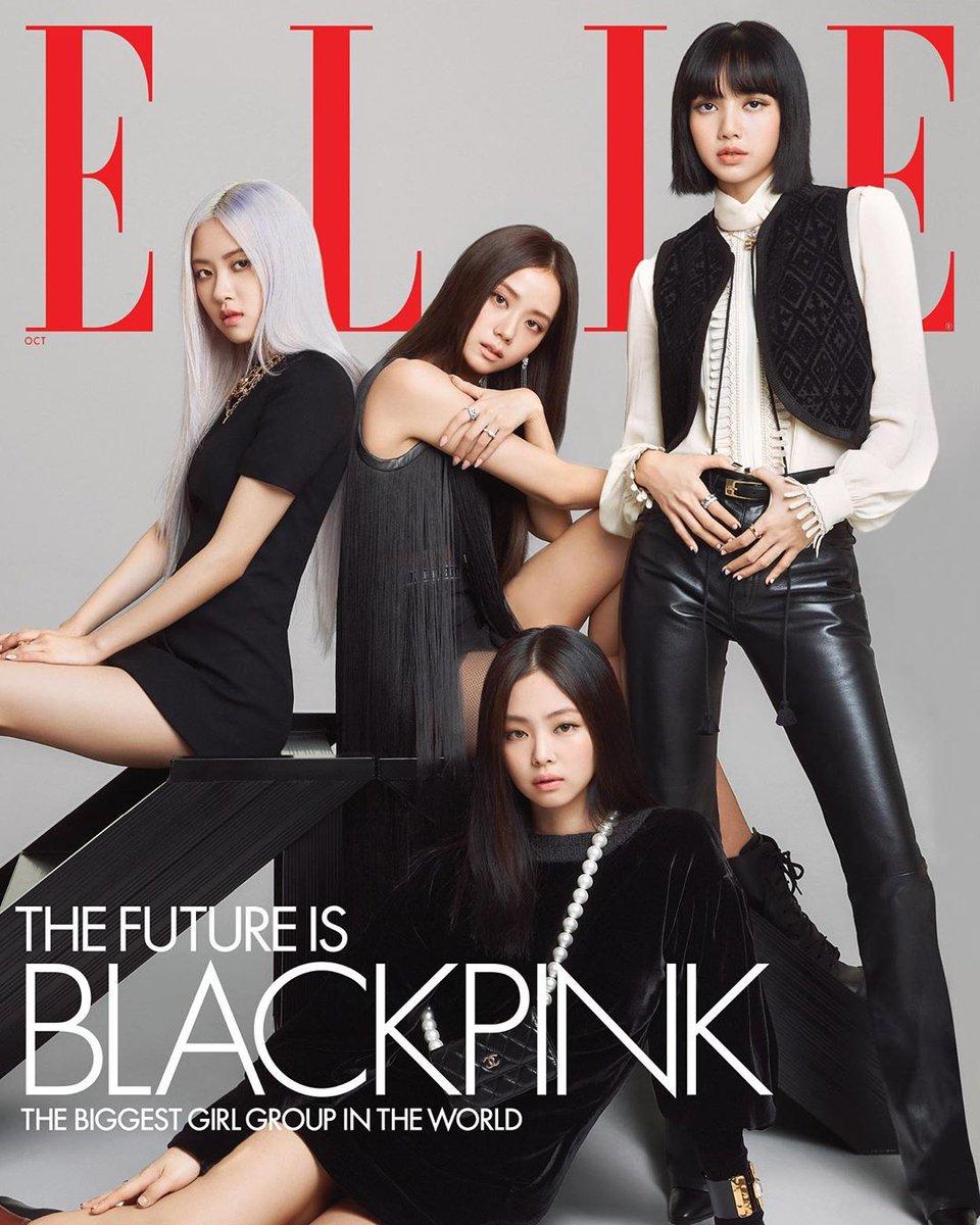 As @BLACKPINK estão na capa da revista @ELLEmagazine para mostrar que o futuro é delas! 🖤💗 https://t.co/KwbaS6QumP