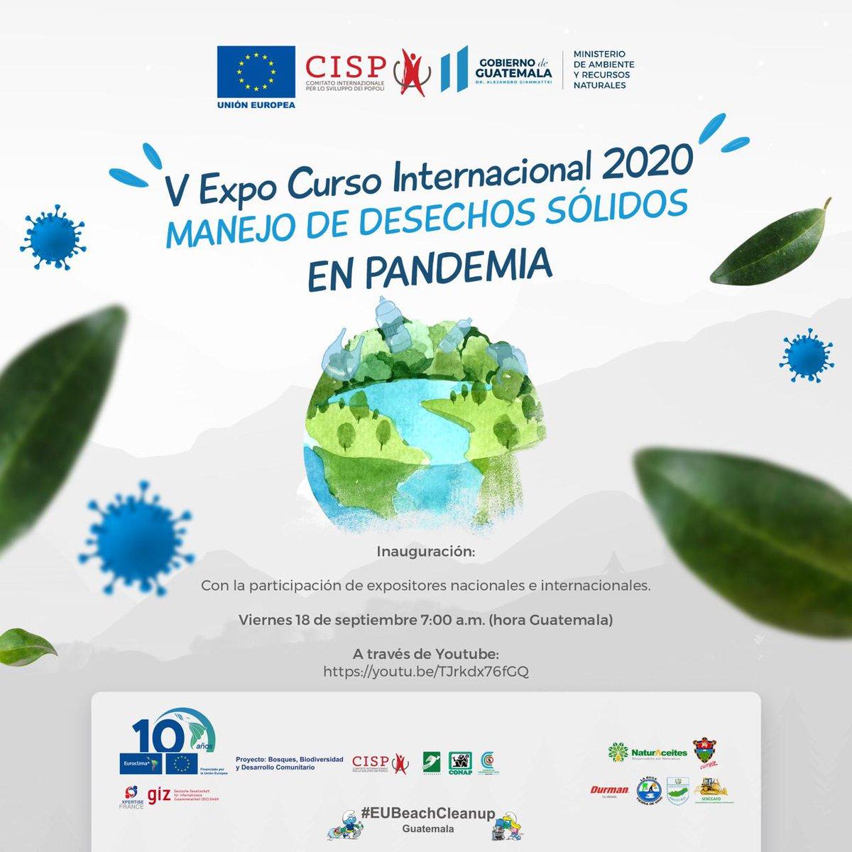 """Estamos inaugurando el taller """"Manejo de desechos sólidos en la ciudad de Guatemala en pandemia"""" organizado en conjunto con """"Bosques, Biodiversidad y Desarrollo Comunitario"""" @EUROCLIMA_UE_AL en el marco de la campaña global UE #EUBeachCleanUp en vivo📲https://t.co/ZfKac0Tlv8 https://t.co/kHZBRJES1y"""
