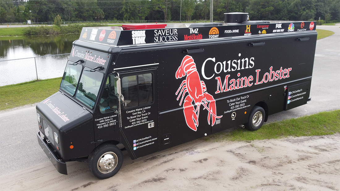 #FoodTruckFriday with @cousinsmainelob food truck in East Bay, CA on a Morgan Olson body https://t.co/22ubWRYZfE Purchased from @BtlfldFordTruck https://t.co/niRJAHqK9i Kitchen upfitted by @Pfoodtrucks https://t.co/Z4257ZZV1E #FoodTruck #MorganOlson @MobileCuisine @foodtruckop https://t.co/lON808AISR