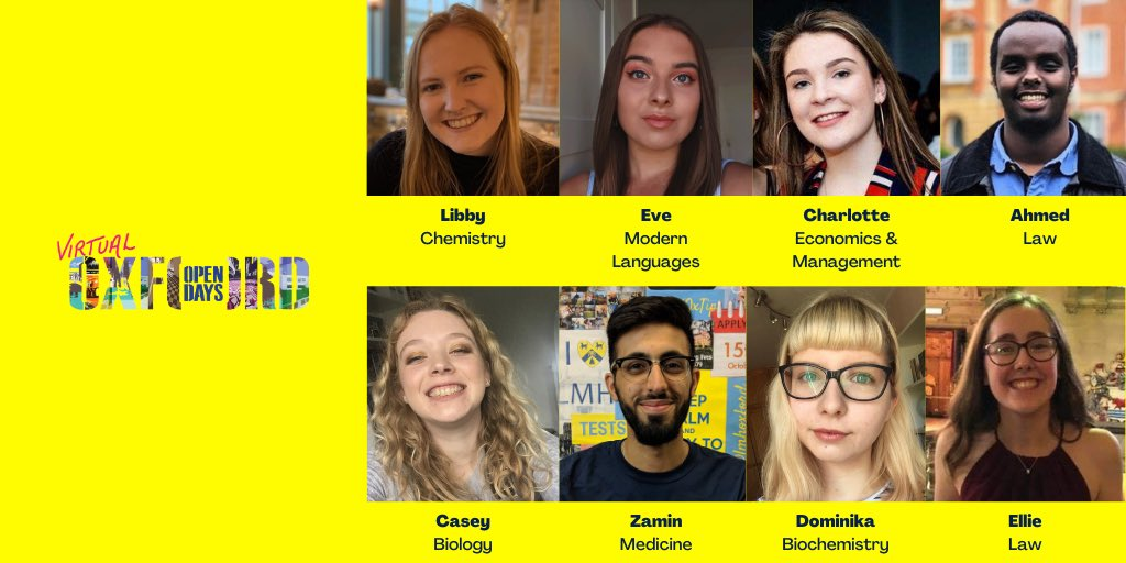 Our fantastic student ambassadors will be answering your questions from 4-5pm 🙌🏾 #OxOpenDay2020 👇🏼https://t.co/gsEaNQc5n6 https://t.co/J9Bgxy76be