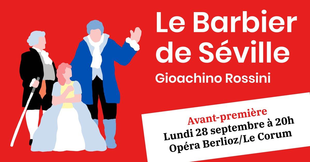 💈 [NOUVELLE DATE] Face au succès rencontré par Le Barbier de Séville, dont les trois représentations affichent complet, nous sommes heureux de vous proposer une #AVANTPREMIERE 🎉 📅 lun 28 sep à 20h - Opéra Berlioz 🎟️ https://t.co/kioOc8t5Eu https://t.co/WVG2xYxjBD