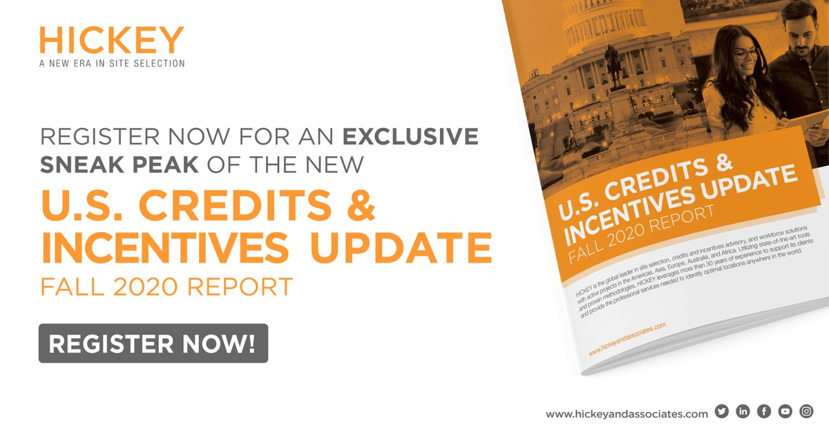 The wait is almost over! Sign up for an exclusive sneak peak of the Fall 2020 #US Credits & #Incentives Legislative Update! In the new report, our incentives experts provide updates across all 50 states, Washington DC, & Puerto Rico.   Register now: https://t.co/muYe7sOKeT https://t.co/9ZUKm2iN3H