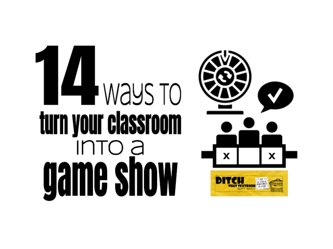🚨Does your class LOVE game shows???   YES!? Then check out this post ⬇  14 ways to turn your classroom into a game show     🔗Links to tons of tools 💡Ideas for using them  ➕ PLUS ready to use Google Slide game templates by Ryan O'Donnell https://t.co/D2onzr5Ge8 #ditchbook https://t.co/GAQ52a6Qrc