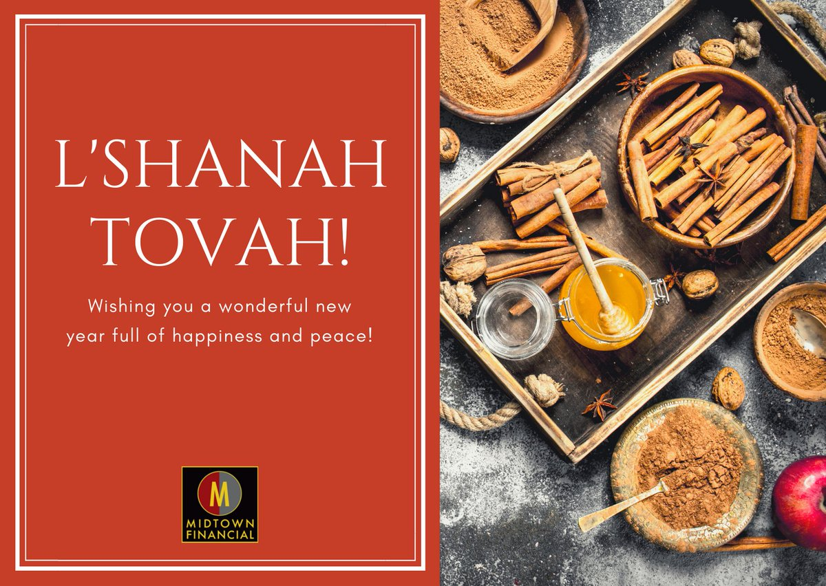 Happy #Friday and L'Shanah Tovah to all who celebrate! May this year be full of #health and #happiness for you and your families! #HappyNewYear #MidtownFinancialGroup https://t.co/LxgrwT9gy8