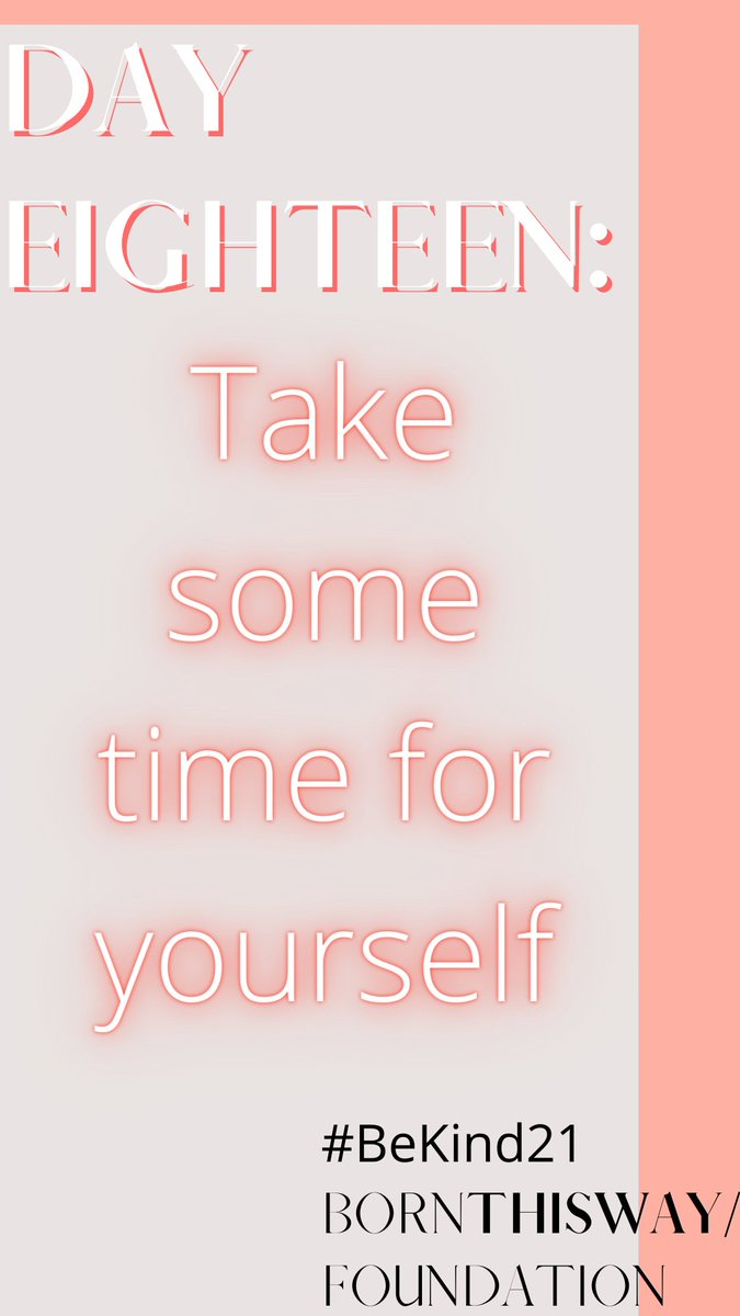 It's as simple as it sounds. It's not selfish to take some time for yourself and do what YOU want! #BeKind21 @BTWFoundation https://t.co/csvhaQX61g
