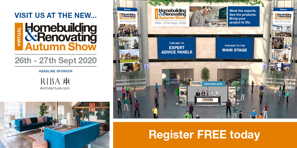 Find out what we'll be doing at the virtual Homebuilding & Renovating Show on 26 and 27 September by registering to join for free: https://t.co/PyuaFxn29T https://t.co/CLEdlqKunA