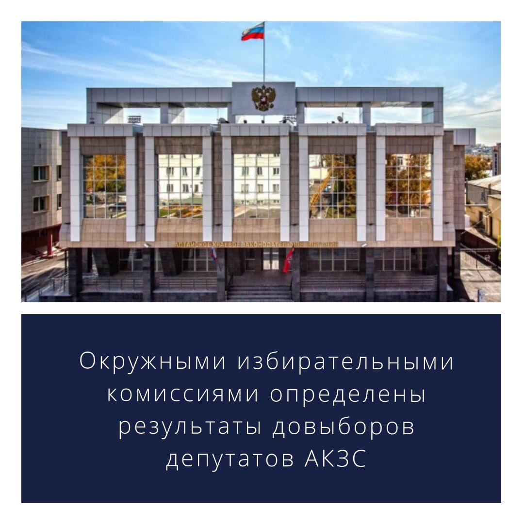14 сентября 2020 года окружные избирательные комиссии по выборам депутатов Алтайского краевого Законодательного Собрания по одномандатным избирательным округам №12, №26, №31 определили результаты выборов, состоявшихся в единый день голосования 13 сентября 2020 года. https://t.co/IS9yzauOMn