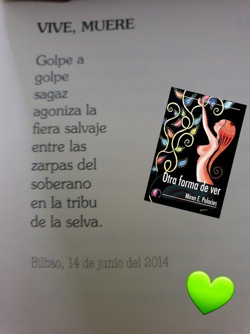 """¿Te gusta la poesía? Te dejo el #poema """"Vive, muere"""" del #poemario """"Otra forma de ver"""" #poesia #poeta #poetry #poetrycommunity #OtraFormaDeVer #leer #lecturas #LibrosRecomendados #libros #Writer #writercommunity #mirenepalacios #LecturaRecomendada #Amazon https://t.co/16lsNmz6JG https://t.co/CWqoRvIxht"""