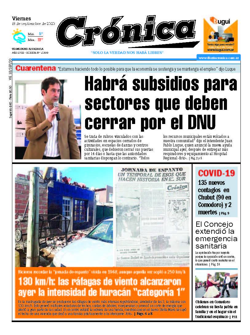 ¡Buen día! 🗞 mirá las portadas de los principales diarios de #Chubut de este viernes 18 de septiembre de 2020. Gentileza @empiria2015 https://t.co/nkKV1j2tEa