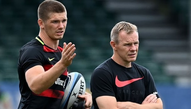 test Twitter Media - From match-day maestro to training-ground impressionist, Saracens fly-half Owen Farrell will miss the Champions Cup match against Leinster, but has still played a part in their build-up.  ➡️ https://t.co/CK6hQDIs2m  #bbcrugby https://t.co/CqGB2AgjmM