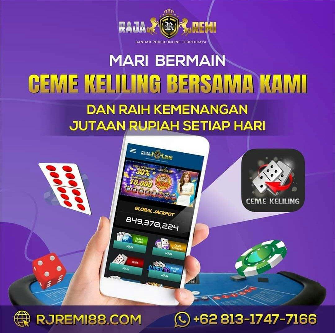 Rajaremi situs poker terpercaya.  -Minimal deposit 10.00  -Bonus new member 60.000  Website : https://t.co/Oo4jXeRF0q  #poker88 #pokerv #rajaremi #dewapoker #nagapoker #pokerace99 #agenpokerterpercaya #pokeronline  #ceme #bandarpokeronline #PuraPuraBahagia https://t.co/s2lNxsa0XX https://t.co/RJWohqgktG