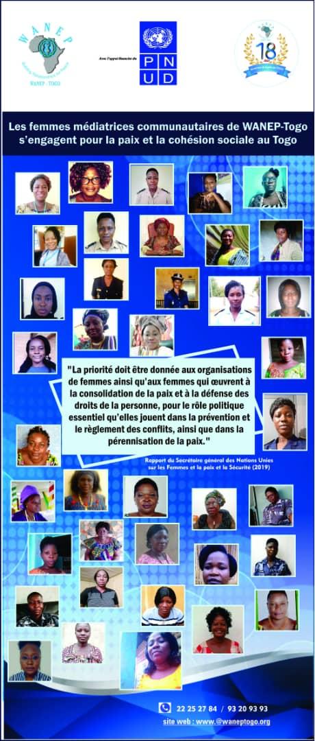 36 femmes médiatrices communautaires et FDS s'engagent avec WANEP-TOGO grâce à l'appui financier du @PnudTogo dans la prévention des conflits communautaires et la protection des droits humains au Togo. #womenengaged #engagedfor1325  @WANEP_Regional @DamienMama @aliouMdia https://t.co/VTNiF1HrI2