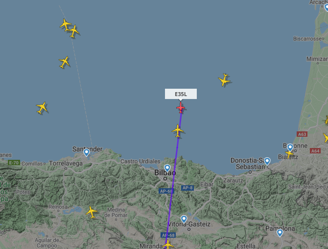 So it's come to that, I've lost my mind, I'm tracking Bale's jet on it's way to London.