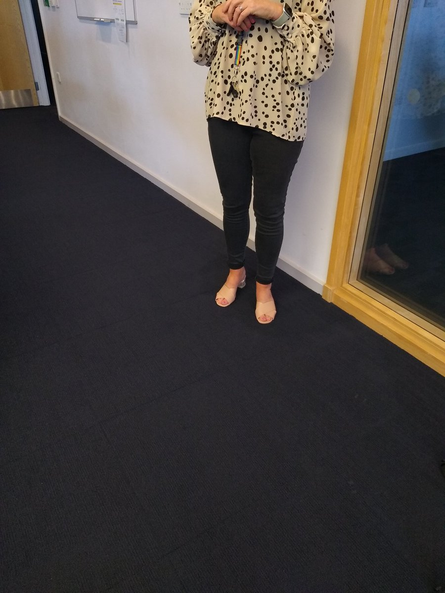 Our Station Manager Ann Gale joining in the Jeans for Genes day
