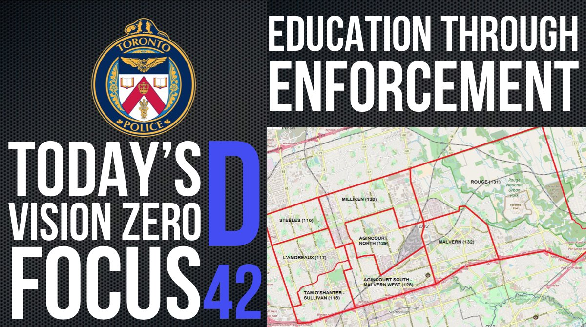 Our @TorontoPolice Enforcement officers are focused on #VisionZero & will be in @TPS42div today. #SlowDown & watch for vulnerable road users or expect to receive a ticket. @ShawnaCoxon @TPScott_baptist @TPSOperations @TDotCop @YourTrafficCop @TPSTrafficDC https://t.co/tBIF1OeIG0