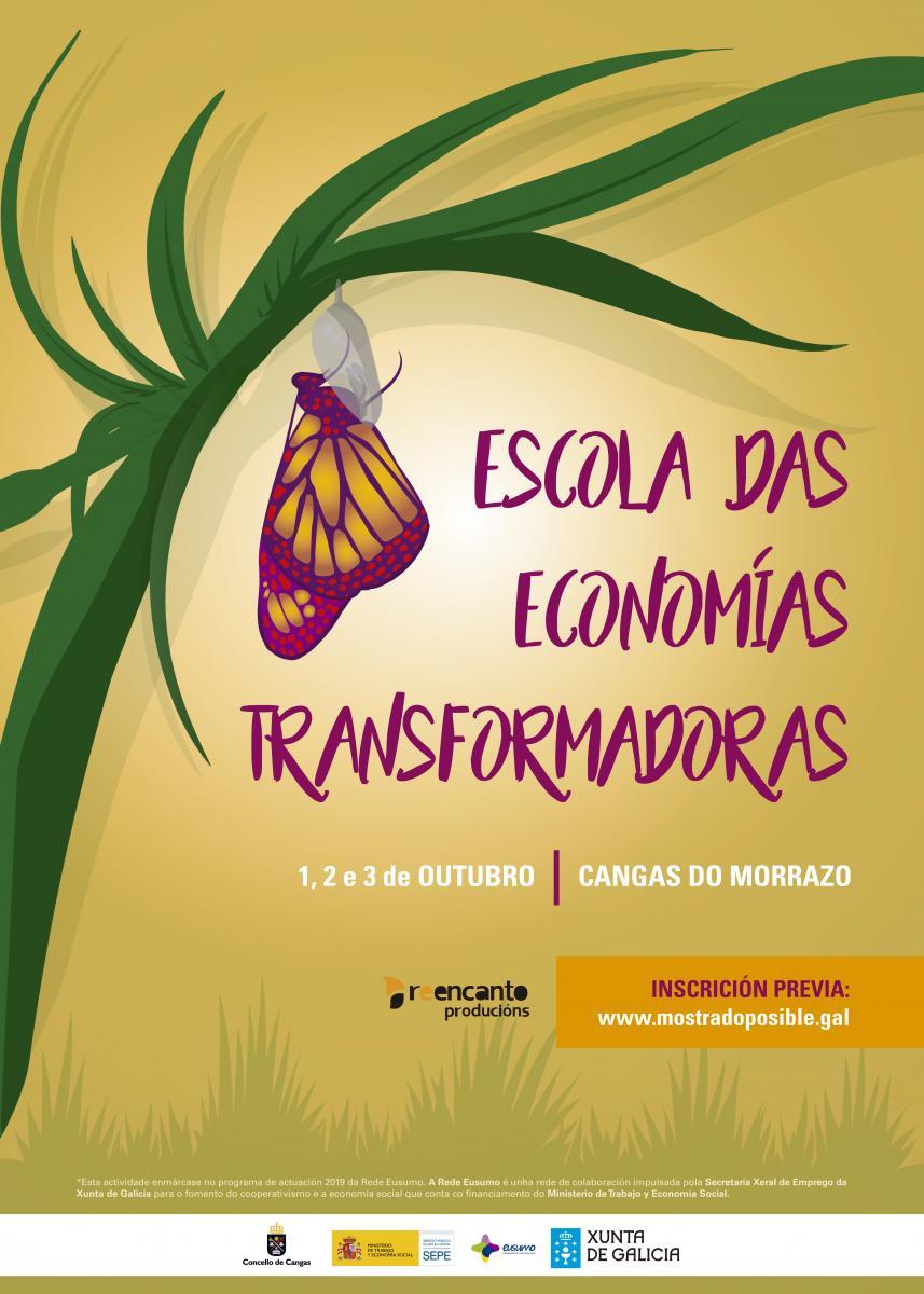 🌀 ESCOLA DAS ECONOMÍAS TRANSFORMADORAS | 1, 2 e 3 outubro #CangasdoMorrazo Un espazo para reflexionar sobre a necesidade de camiñar hacia un novo modelo económico máis social, colaborativo e sostible ✔️ Finanzas éticas ✔️ Pensa global, come local ✔️ Medio ambiente https://t.co/cCD594CFNu