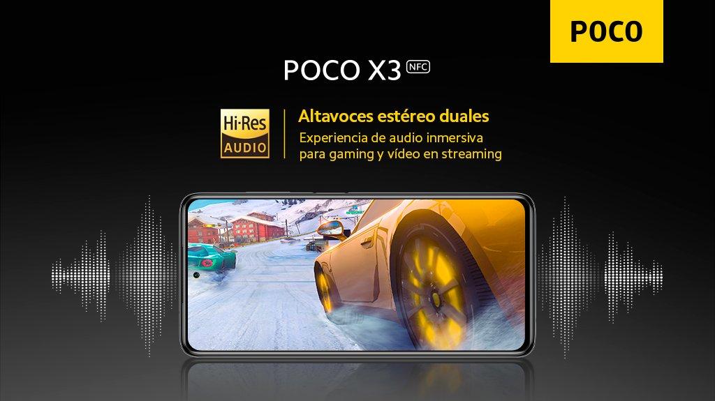 Solo el smartphone número 1 de DXOMark No.1 Audio está cerquita de los dos altavoces estéreo del #POCOX3 NFC, que tiene #ExactamenteLoQueNecesitas en cuanto a sonido.  ¿Qué te parece el nuevo #POCO? Hazte con el tuyo aquí 👉https://t.co/FJU42ZpTs0 https://t.co/DSVqFQGX2L
