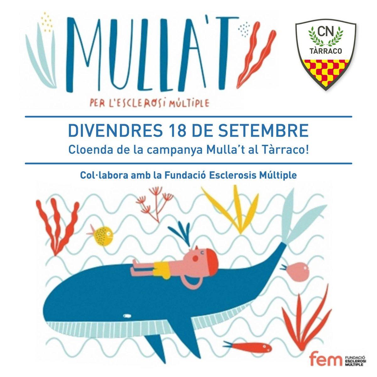 Divendres 18, darrer dia, per a les aportacions o compres per al Mulla't al Club! #mullat #cntarraco #mullatperlesclerosimultiple https://t.co/BYeWfnDHYE