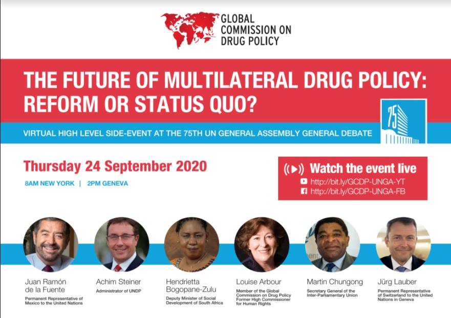 The Future of Multilateral #DrugPolicy | Organised by @globalcdp, w/ representatives from @MexOnu @The_DSD, @globalcdp, @IPUparliament & @swiss_un. https://t.co/dPmsn1ozfF https://t.co/0U1fS4PtqU