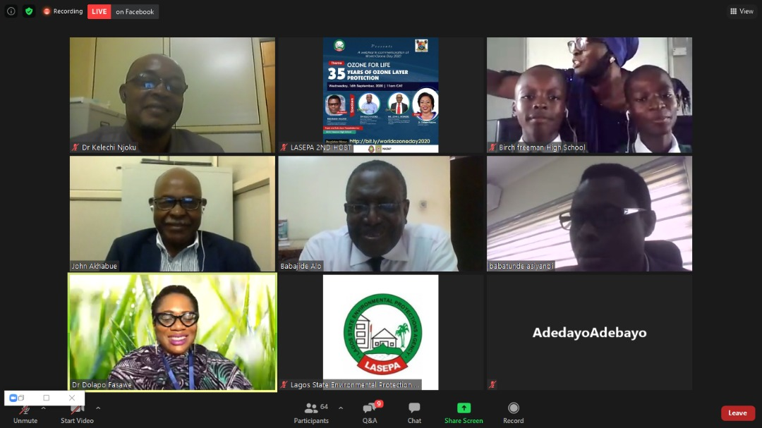 """""""Ozone holes are multiplying. Stop the risk if you are wise!""""  Excerpt from poem by secondary school students present at World Ozone Day 2020 Webinar held on 16th September, 2020.   #WorldOzoneDay  #ForAGreaterLagos   @followlasg @FMEnvng @Mr_JAGss @jidesanwoolu @drdolapofasawe https://t.co/1yTT03UZDM"""