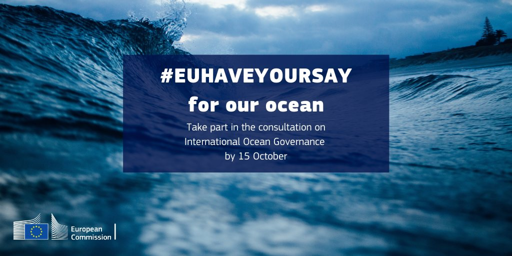 #EUHaveYourSay! 🇪🇺 launched a targeted consultation on #InternationalOceanGovernance seeking input from stakeholders by 15 October🌊 ➡️ https://t.co/7ZzIBEV4bh  #OceanEU #EUGreenDeal #OurOcean @EU_MARE @EUScienceInnov @EUClimateAction @EU_ENV https://t.co/R2QRZPynbK