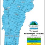 Image for the Tweet beginning: Forecasted fire danger for Friday