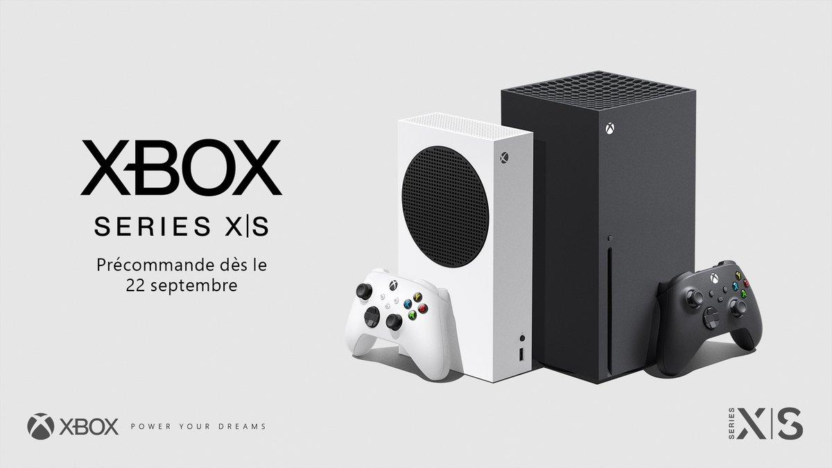 👀 On a quelques précisions à te partager !   🎮 Précommandes de la Xbox Series X et la Xbox Series S : le 22 septembre dès 9h00.  🌍 Lancement mondial le 10 novembre   👉 https://t.co/Eh2QsVmBMv https://t.co/exM4yj0mGG