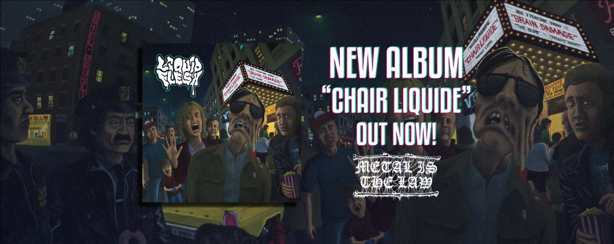 """Chair Liquide"" is out!!! FFO #Celticfrost, #Entombed, #DeathStrike... Available on Bandcamp and every other streaming platforms! https://t.co/VqNqtwmvH8  #deathmetal #meltingdeathmetal #liquidflesh #osdm #oldschooldeathmetal #thrashmetal #NewRelease #French  #HorrorMovies #DIY https://t.co/2JZkSrkmmb"