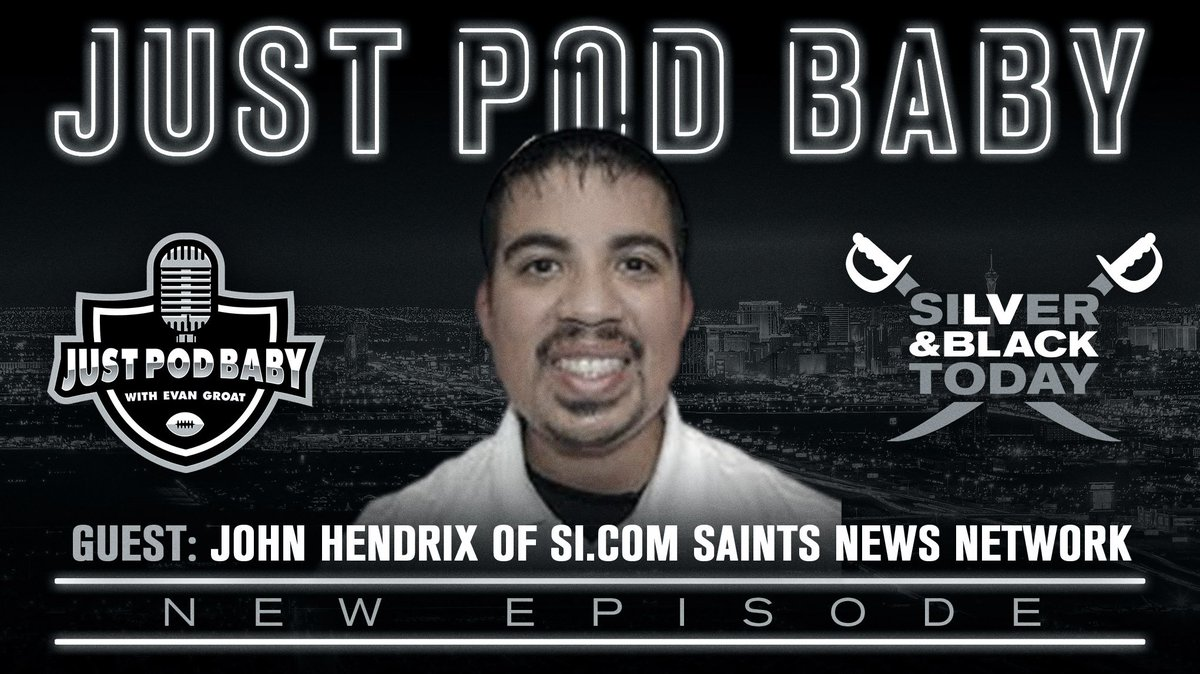 🚨NEW EPIOSDE  Tune in & get your week 2 preview with @Justpodbaby   🏈How the injury to M. Thomas impacts the game  🏈3 keys to victory  🏈Guest @JohnJHendrix   #RaiderNation   Episode 63: News and Noted Plus John Hendrix of SIcom's Saints News Network https://t.co/6LRz3A8Q65 https://t.co/qnojiiFJqN