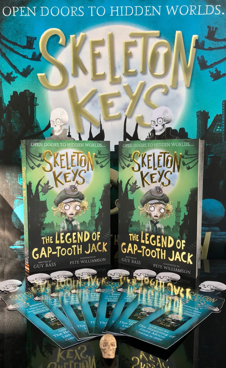 💀🗝 BOOK GIVEAWAY💀🗝  Dogs 'n' cats! I'm giving away two copies of SKELETON KEYS: THE LEGEND OF GAP-TOOTH JACK Reply & RT to enter - ends midnight 23/09/20. A toothily tall tale of time travel, out 1st October from me, @PeteCWilliamson & @LittleTigerUK  #SkeletonKeys #giveaway https://t.co/rNlOtGh8hT