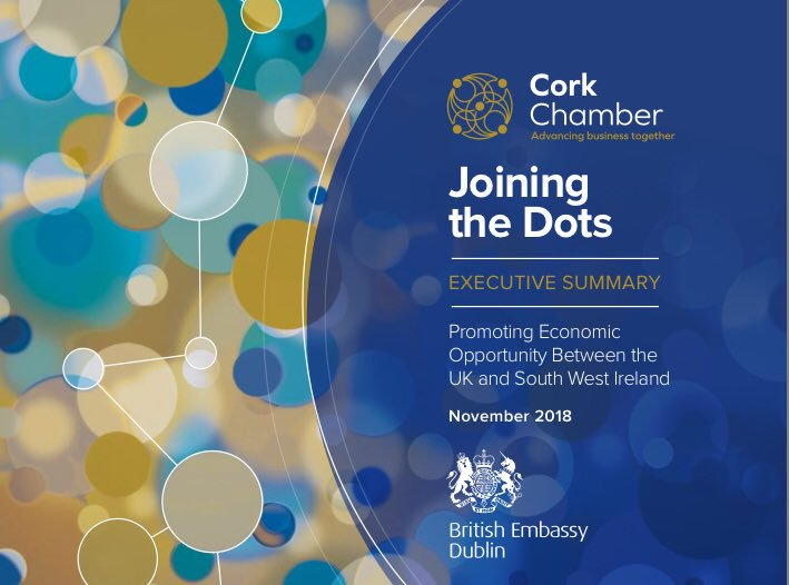 In Cork in 2018, along with @SimonCoveney & @CorkChamber, we launched the Joining the Dots report on economic opportunities between the UK & South West of Ireland. Delighted also to have appointed the first Honorary Consul to strengthen 🇬🇧& 🇮🇪  prosperity links. https://t.co/QeXcGlPSfO