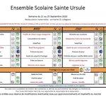 Image for the Tweet beginning: 👨🍳Menu de la semaine 39