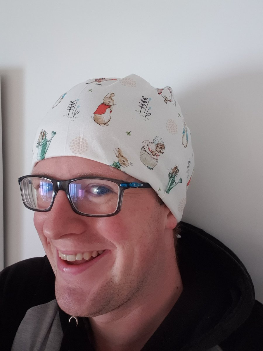 Hey @jlandpartners  I'm a junior doctor who works with kids. I make fun scrub caps to help put them at ease.  Clare at your Basingstoke store asked me what I was making, and when I told her she very kindly gave me the fabric for free!  Thank you, it looks awesome!! https://t.co/rSZWsGRuxM