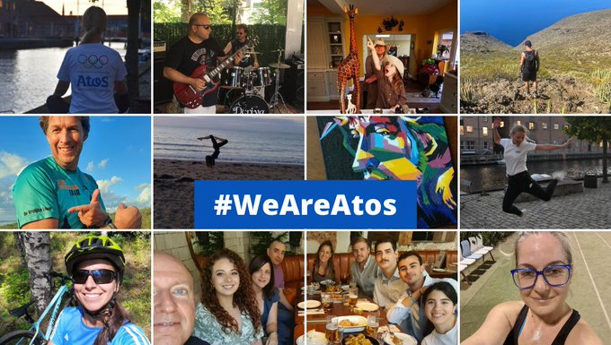 We thank all our employees over the globe for taking part in the #WeAreAtos...