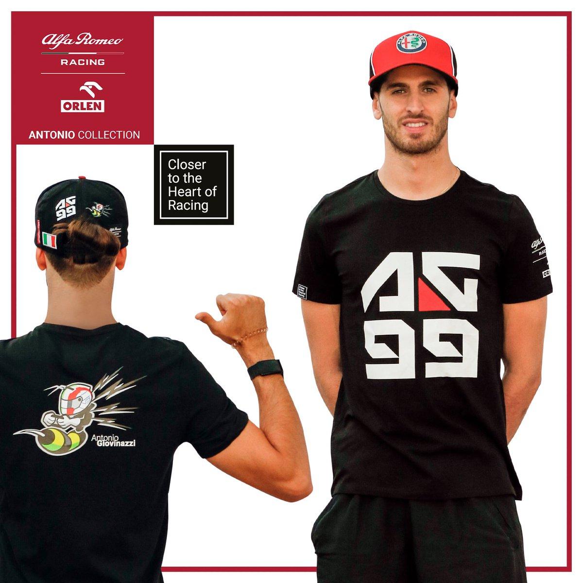 🐝 Antonio Collection - Out Now 🐝 #tuttipazzipergiovinazzi date uno sguardo da vicino alla t-shirt che abbiamo realizzato per @Anto_Giovinazzi  e l'@alfaromeoracing. Una collezione interamente progettata da Italiani per l'Italia e tutti i tifosi di Antonio in #f1 🇮🇹 https://t.co/JNxbTOksLt