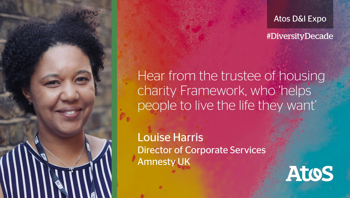 30th Sept:@sara2lou of @AmnestyUK will be talking about the journey to anti-racism and what that means for both personal & professional lives - at our 2020 Diversity & Inclusion Expo.   Don't miss out, register now:https://t.co/xybxc2qGyO  #DiversityDecade#WeAreAtos https://t.co/sk0ad8BXEV